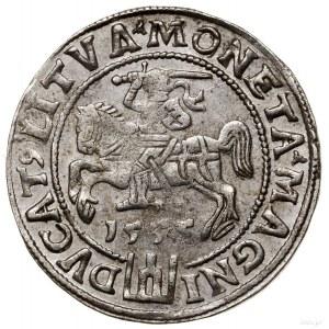 Grosz nastopę litewską, 1555, Wilno; końcówki napisów ...
