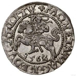 Półgrosz litewski, 1562, Wilno; rzadka odmiana zkrzyże...