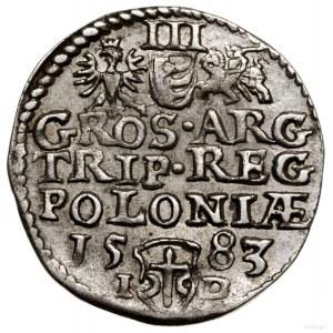 Trojak, 1583, Olkusz; I-D (inicjały Jana Dulskiego) roz...