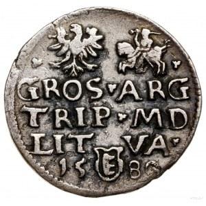 Trojak, 1580, Wilno; nominał III w kartuszu pod popiers...