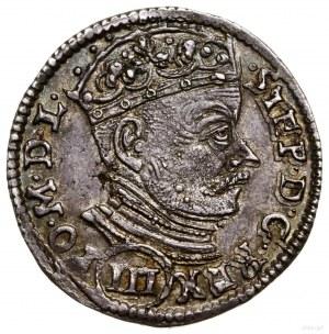 Trojak, 1581, Wilno; nominał III w okrągłej tarczy naa...