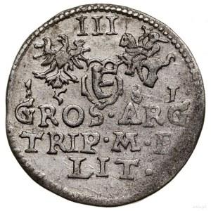 Trojak, 1581, Wilno; odmiana zherbem Leliwa naawersie...
