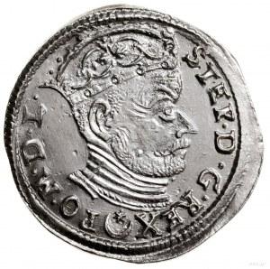 Trojak, 1583, Wilno; naawersie herb Leliwa, końcówki n...