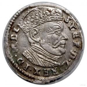 Trojak, 1585, Wilno; odmiana bez herbu Lis na awersie, ...