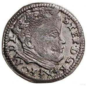 Trojak, 1586, Wilno; herb Lis naawersie pod popiersiem...