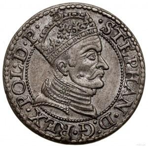 Grosz, 1579, Gdańsk; naawersie kropka kończy napis w o...