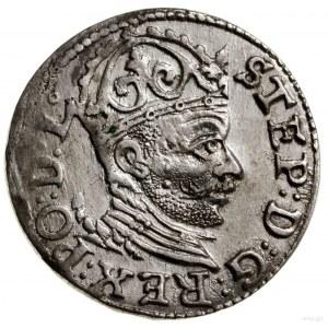 Trojak, 1584, Ryga; korona wysoka zliliami, odmiana z...