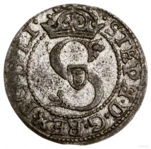 Szeląg, 1582, Ryga; odmiana znapisem STEPH naawersie,...