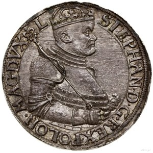 Talar, 1586, Nagybánya; Aw: Półpostać króla w prawo, w ...