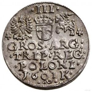 Trojak, 1601, Kraków; popiersie króla w lewo; Iger K.01...