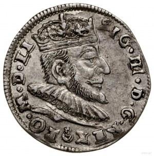 Trojak, 1589, Wilno; herb Leliwa pod głową rozdziela na...