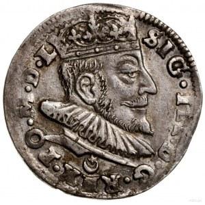 Trojak, 1589, Wilno; herb Leliwa pod popiersiem władcy ...