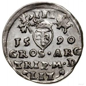 Trojak, 1590, Wilno; herb Chalecki (Dymitra Chaleckiego...