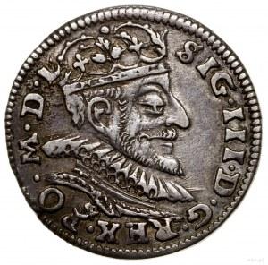 Trojak, 1591, Wilno; typ trojaka z wachlarzowatą, łukow...