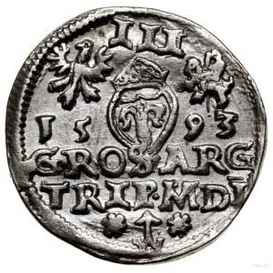 Trojak, 1593, Wilno; końcówki legend L / L, u dołu rewe...
