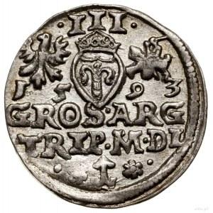 Trojak, 1593, Wilno; końcówki legend L / LI, u dołu rew...