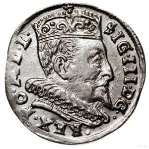 Trojak, 1594, Wilno; duża głowa króla, kropki po bokach...