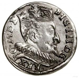 Trojak, 1595, Wilno; u dołu herb Chalecki, kropki po bo...