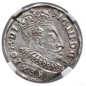 Trojak, 1595, Wilno; u dołu rewersu zdeformowany herb P...