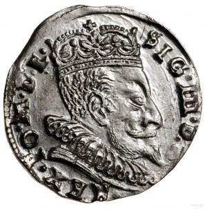 Trojak, 1596, Wilno; typ monety z herbem Chalecki u doł...