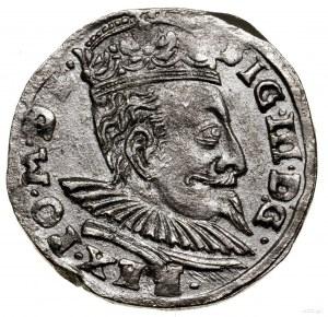 Trojak, 1596, Wilno; u dołu herb Chalecki i lew przebit...