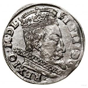 Trojak, 1597, Wilno; na rewersie u dołu głowa wołu i he...