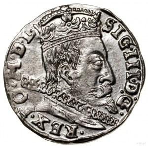 Trojak, 1597, Wilno; na rewersie u dołu głowa wołu (mis...