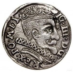 Trojak, 1598, Wilno; u dołu głowa wołu i herb Chalecki,...