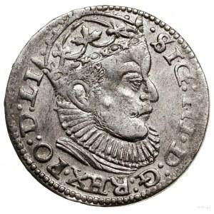 Trojak, 1589, Ryga; końcówka napisu LI na awersie, znak...