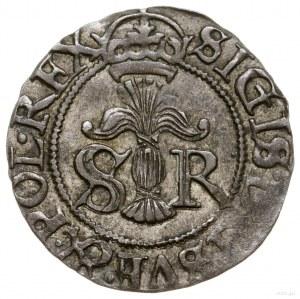 1/2 öre, 1597, Sztokholm; odmiana z SVE & POL REX w legend...