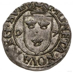 Fyrk, 1597, Sztokholm; odmiana z SVE & POL REX w legend...