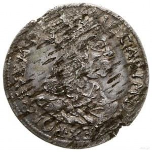 Trojak 1662, Kraków; popiersie króla bez obwódki, brak ...