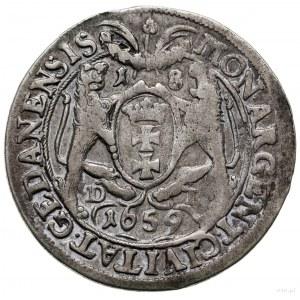 Ort 1659, Gdańsk; w legendzie awersu IOAN CAS..., na re...