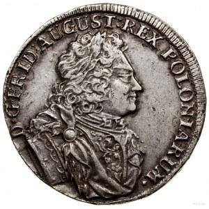 2/3 talara (coselgulden), 1707, Drezno; na rewersie zna...