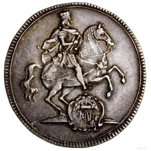 Półtalar wikariacki, 1711, Drezno; Aw: Król na koniu w ...