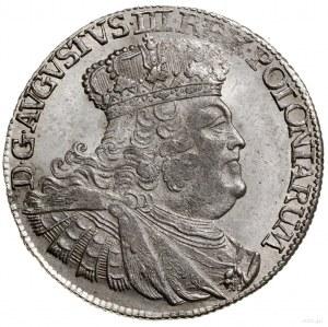 Ort, 1755 EC, Lipsk; masywne popiersie króla w szerokie...