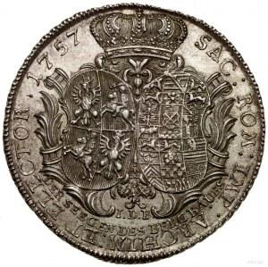 Talar (Ausbeutetaler), 1757, Drezno; Aw: Popiersie król...