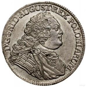1/3 talara, 1756 FWôF, Drezno; odmiana bez znaku mennic...