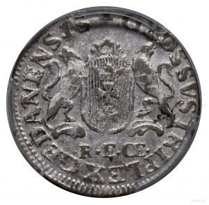 Trojak, 1765, Gdańsk; szeroka tarcza z herbem Gdańska, ...
