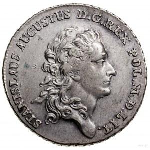 Półtalar, 1768 IS, Warszawa; Aw: Głowa króla z przepask...