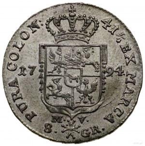 Dwuzłotówka, 1794, Warszawa; odmiana z napisem 41 3/4 n...