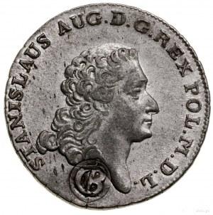 """Dwuzłotówka, 1766; fałszerstwo pruskie z kontramarką """"C..."""
