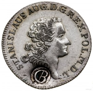Złotówka (4 grosze), 1766; fałszerstwo pruskie z kontra...