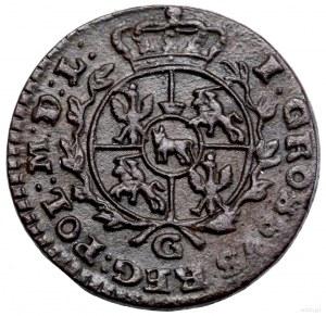 Grosz, 1768 G, Kraków; wieniec bez jagódek, bez kropki ...