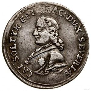 Grosz, 1761; Aw: Popiersie Kajetana Sołtyka w lewo i na...