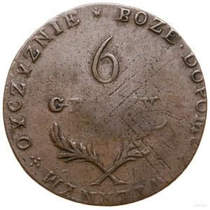 6 groszy, 1813, Zamość; Aw: Napis w poziomie; PIENIĄDZ ...