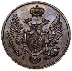 3 grosze, 1827 FH, Warszawa; nowe bicie – II połowa XIX...