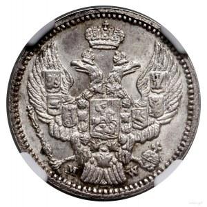 20 kopiejek = 40 groszy, 1850 MW, Warszawa; wariant z p...