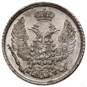 15 kopiejek = 1 złoty 1836, Warszawa; szeroka tarcza ze...