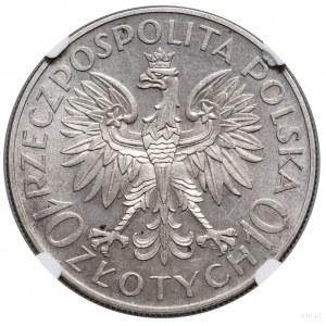 10 złotych, 1933, Warszawa; Jan III Sobieski – 250. roc...